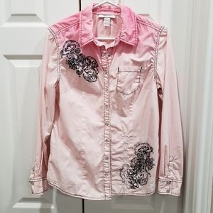 Ladies' Pink Ombre Western Shirt - Size 8